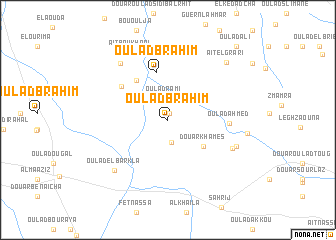map of Oulad Brahim