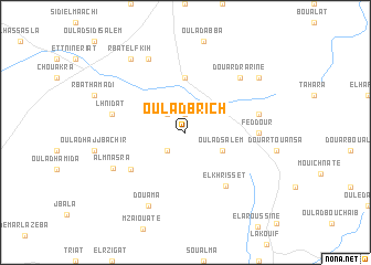 map of Oulad Brich