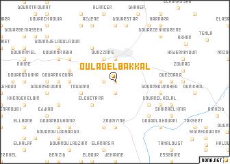 map of Oulad el Bakkal