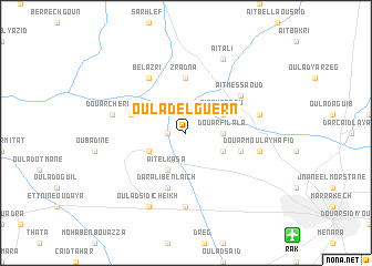 map of Oulad el Guern