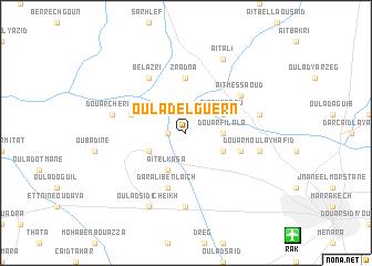 map of Oulad el Guern