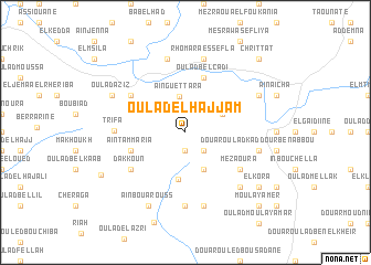 map of Oulad el Hajjam