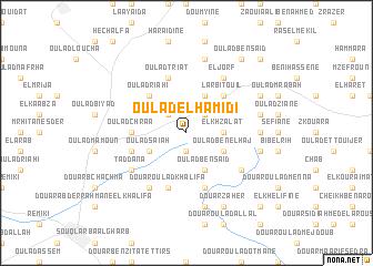 map of Oulad el Hamidi