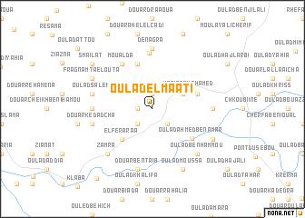 map of Oulad el Maati