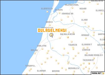 map of Oulad el Mehdi