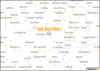 map of Oulad Gzouli