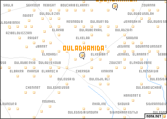 map of Oulad Hamida