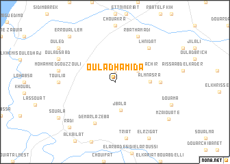 map of Oulad Hamida