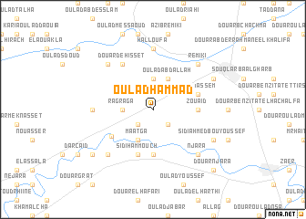 map of Oulad Hammad
