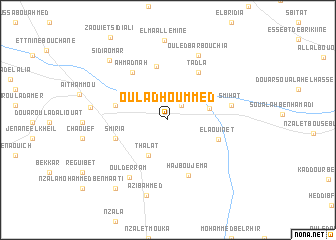 map of Oulad Hoummed