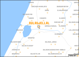 map of Oulad Jellâl