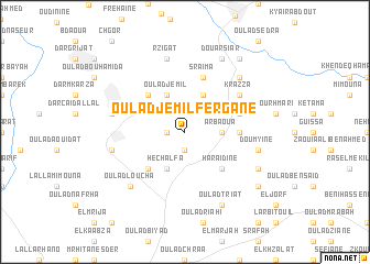 map of Oulad Jemil Fergane