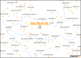 map of Oulad Jilali