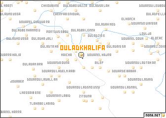 map of Oulad Khalifa