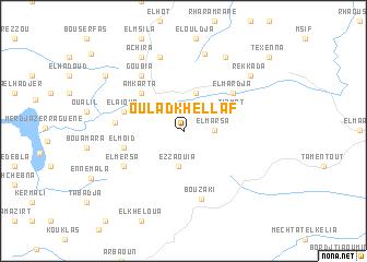map of Oulad Khellaf