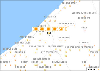 map of Oulad Lahoussine