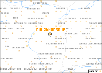 map of Oulad Mansour