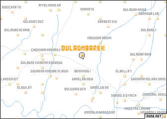 map of Oulad Mbarek