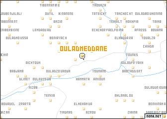 map of Oulad Meddane