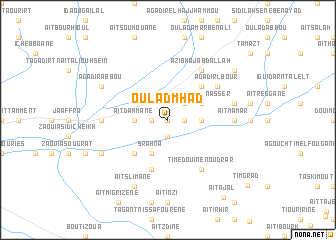 map of Oulad Mhad