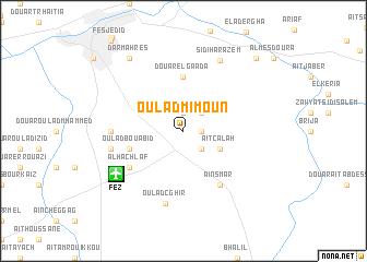 map of Oulad Mimoun