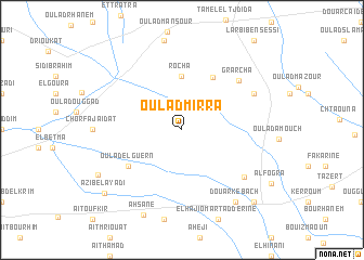 map of Oulad Mirra