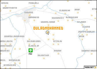 map of Oulad Mohammed