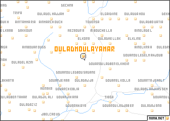 map of Oulad Moulay Amar