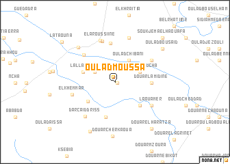 map of Oulad Moussa