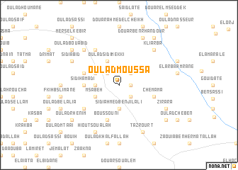 map of Oulad-Moussa