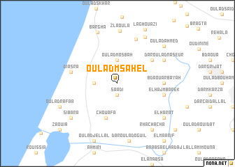 map of Oulad Msahel