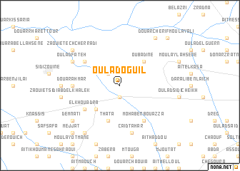 map of Oulad Oguil