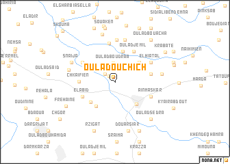 map of Oulad Ouchich