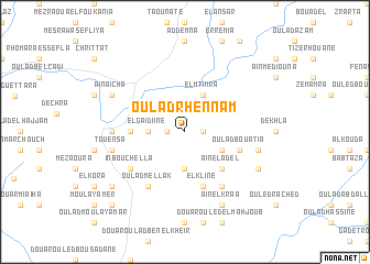 map of Oulad Rhennam