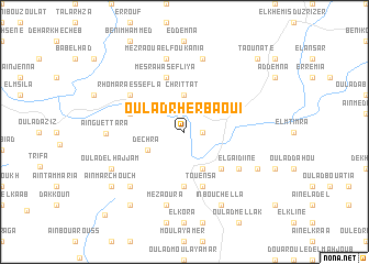 map of Oulad Rherbaoui