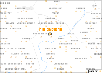map of Oulad Riana