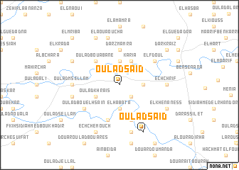 map of Oulad Saïd