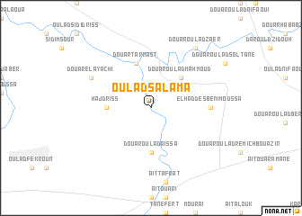 map of Oulad Salama