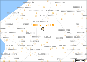 map of Oulad Salem