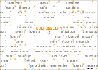 map of Oulad Sellam