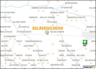 map of Oulad Sidi Cheïkh