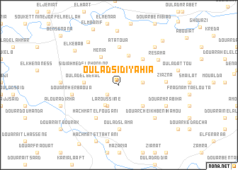 map of Oulad Sidi Yahia