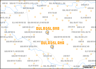 map of Oulad Slama