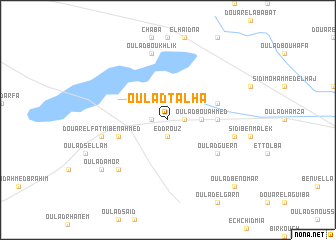 map of Oulad Talha