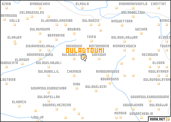 map of Oulad Toumi