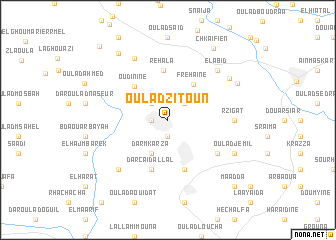 map of Oulad Zitoun