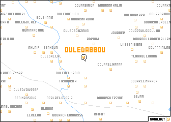 map of Ouled Abbou