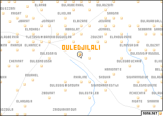map of Ouled Jilali