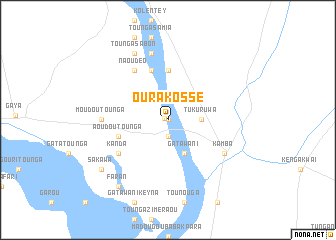 map of Ourakossé