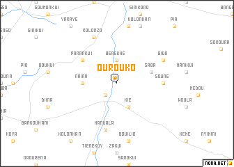 map of Ourouko